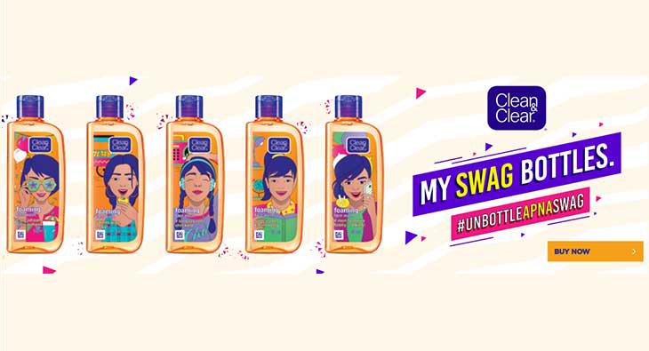 Clean&Clear,通过在印度投放新的限量版瓶子,提高青少年的品牌知名度和广告记忆力。